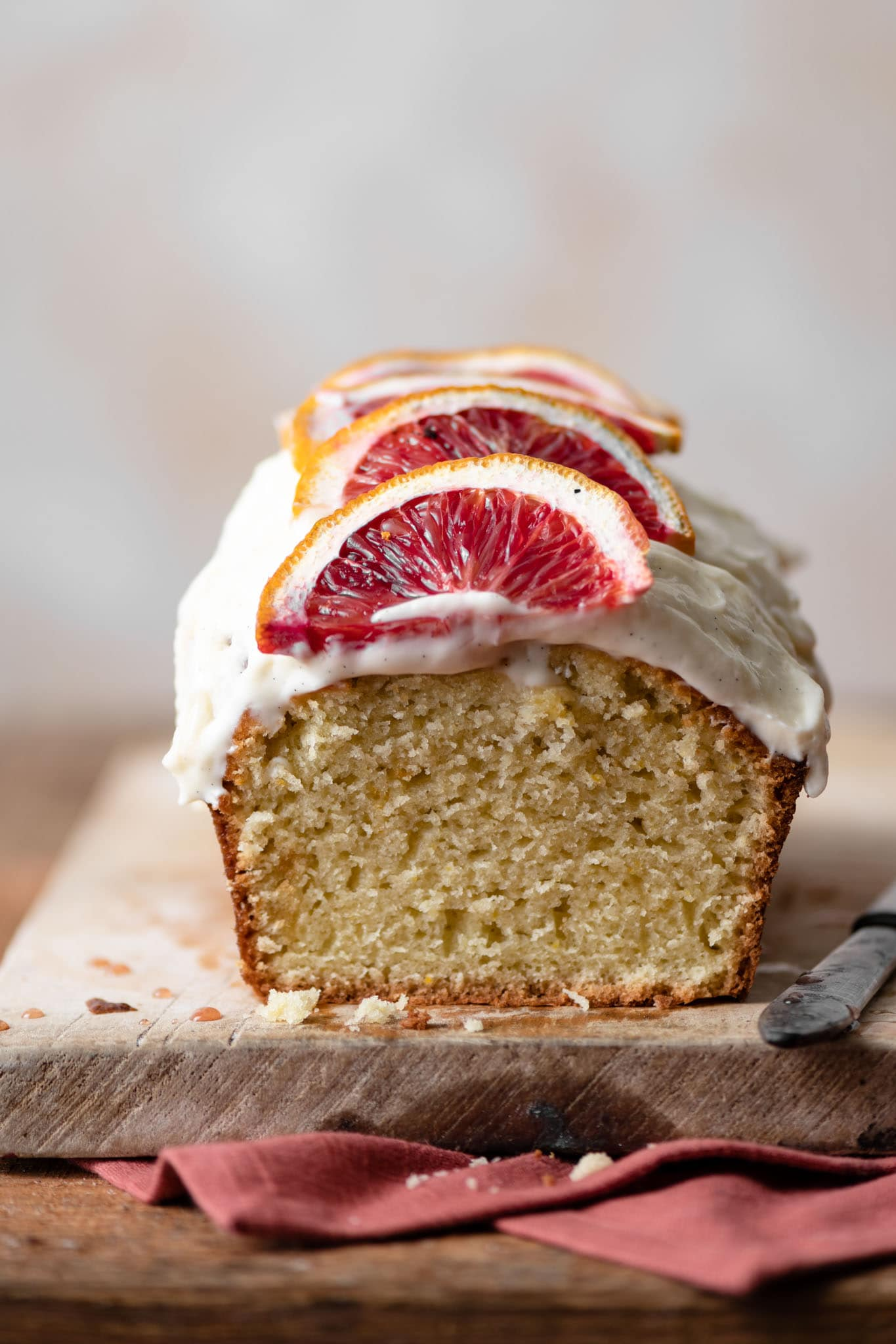 Recipe for Olive Oil cake made with blood oranges.