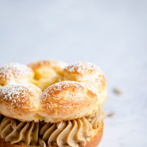 Paris Brest Recipe with sunflower butter creme patissiere