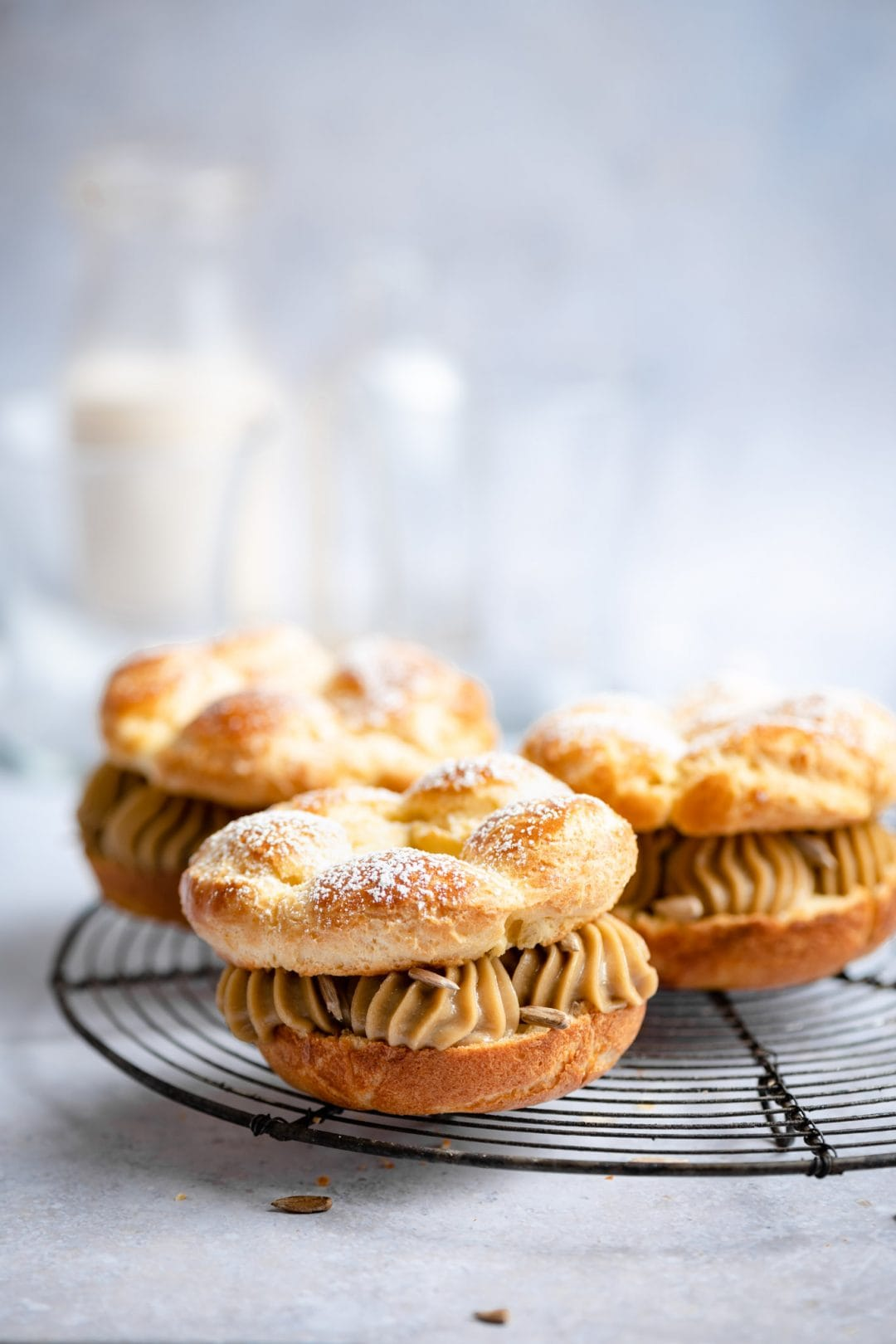 Recipe for Sunflower Paris Brest Recette frech pastry dessert