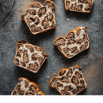 Recipe card for spotted leopard bread.