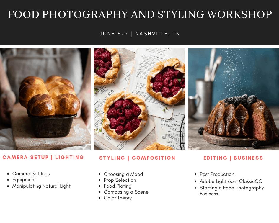 Nashville Food Photography Workshop