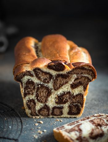 Homemade Chocolate Orange Leopard Milk Bread.