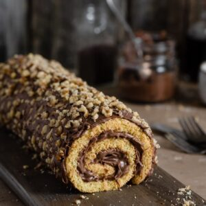 Recipe for Orange Chocolate Swiss Roll.