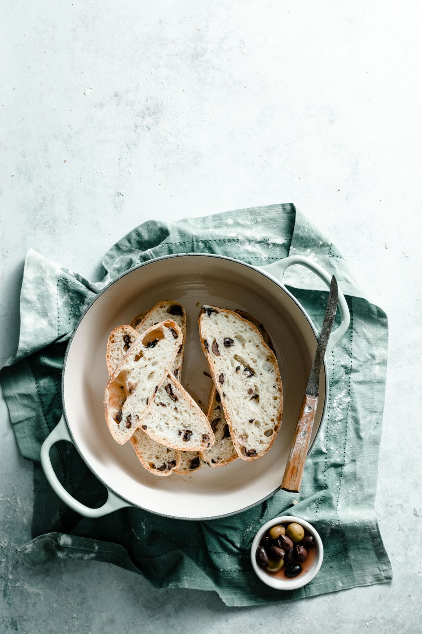 Dutch Oven olive bread recipe.