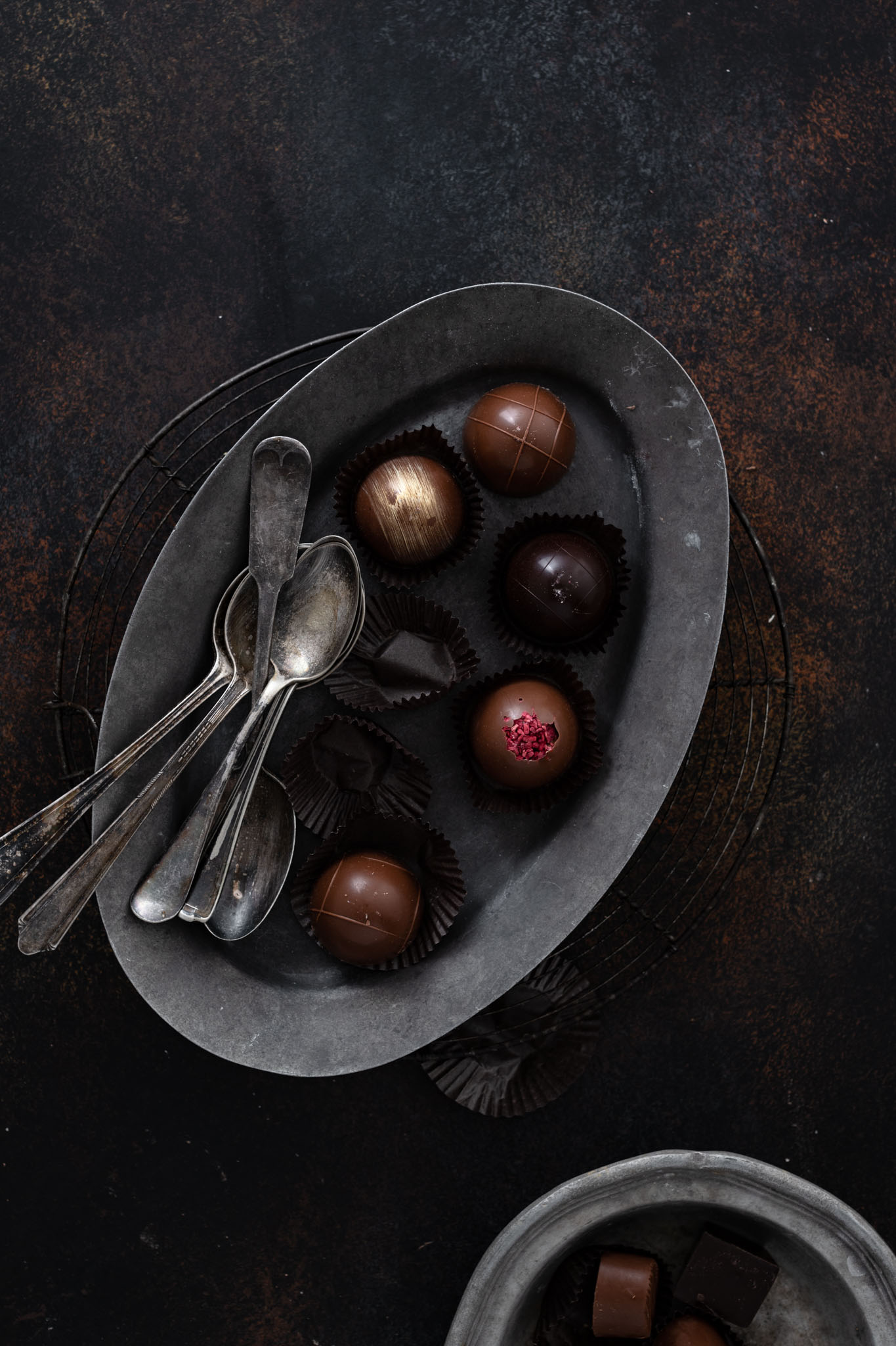 Simply Chocolate's Chocolate Truffles on a plate.