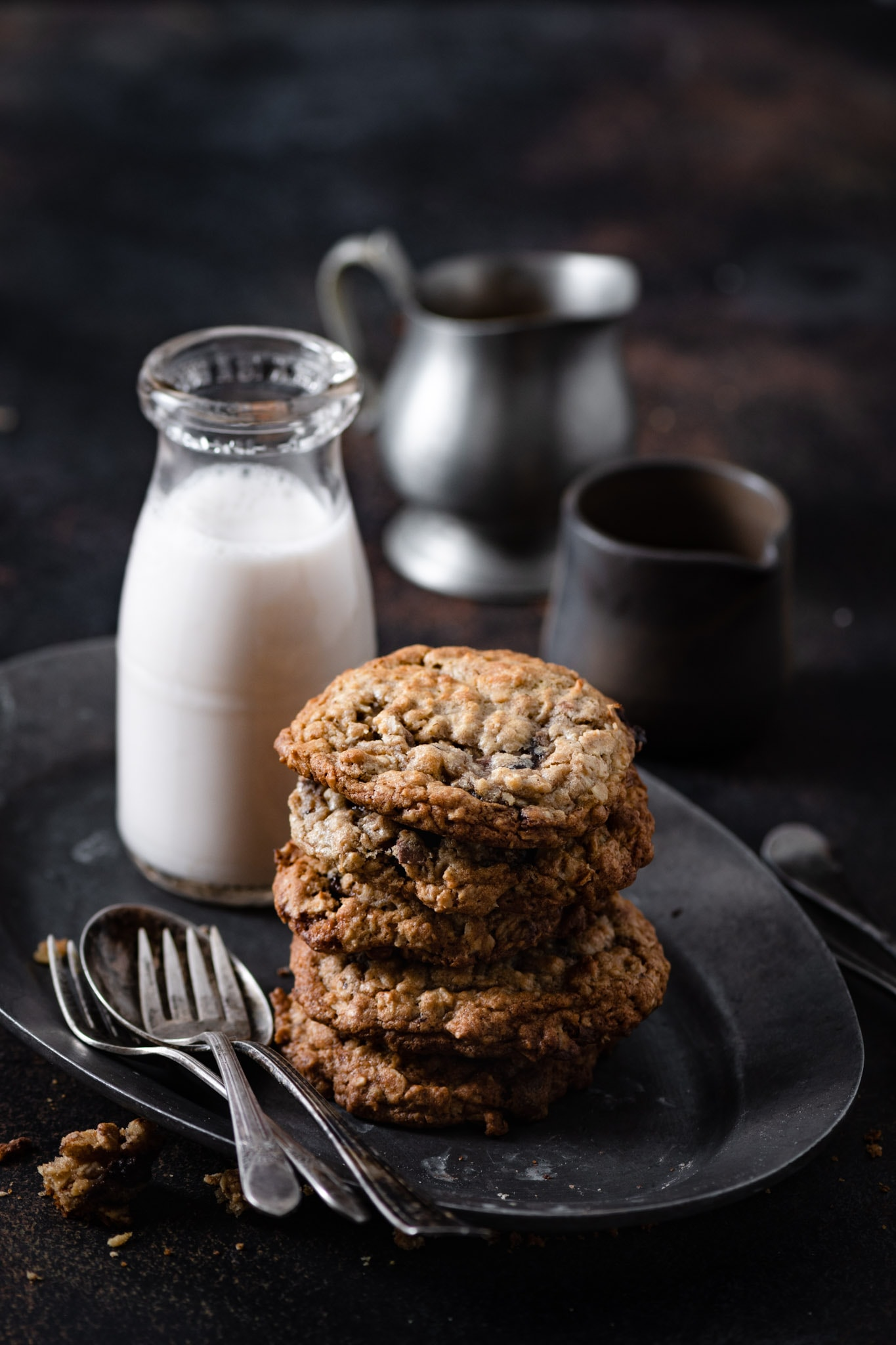 Easy oatmeal cookie recipe with chocolate truffles.