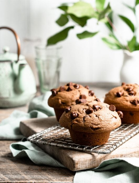Bakery Style Chocolate Chip Muffin Recipe.