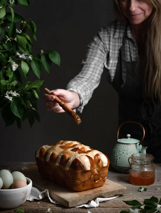 Apricot Jam on Hot Cross Buns Recipe.