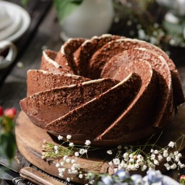 Homemade Chocolate Pound Cake Recipe.