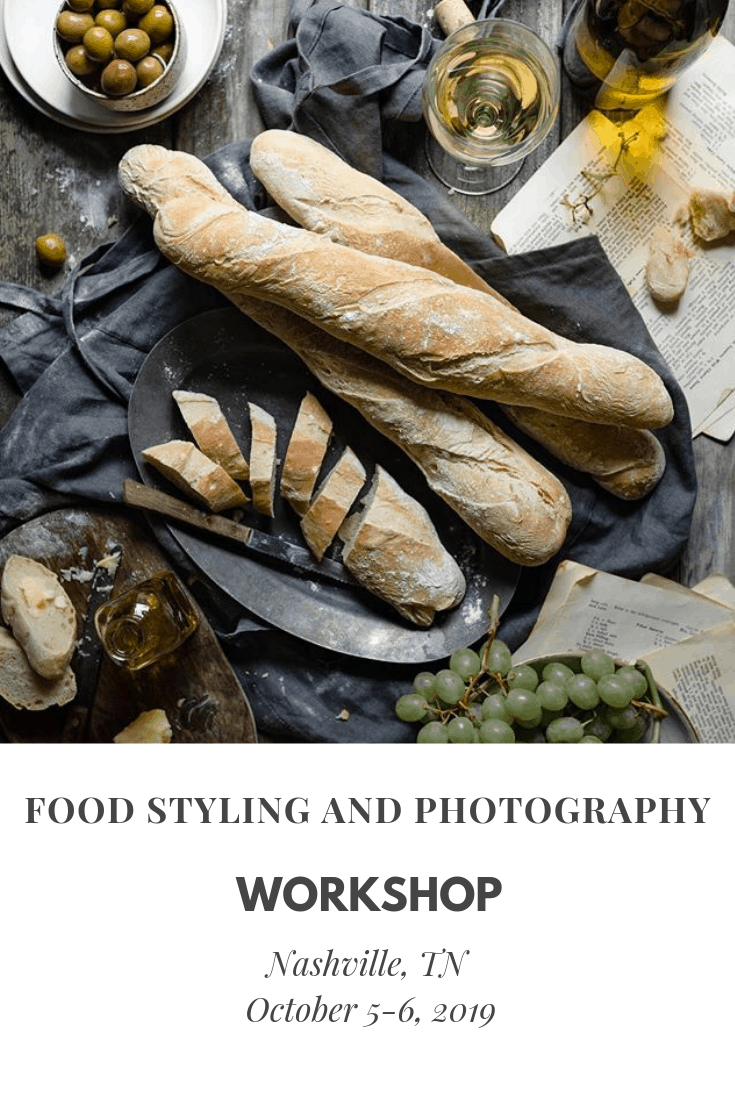 Food styling and photography workshop in Nashville, TN.