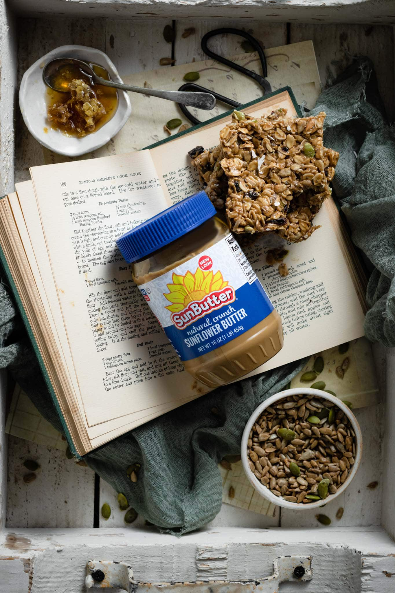 Sunbutter with homemade granola bars.