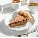 Recipe card for chocolate espresso pie.