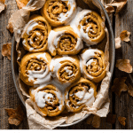 Recipe Card for Pumpkin Cinnamon Rolls