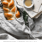 Recipe card for braided challah bread.